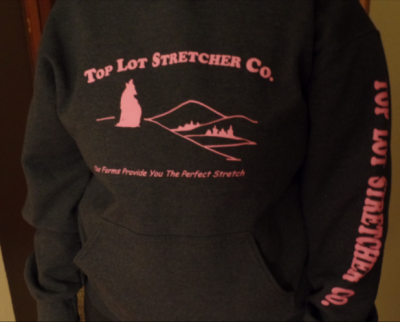 Top Lot Stretcher Co. Hooded Sweatshirt 2XL- Pink Letters