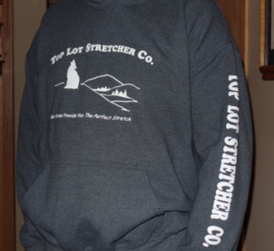 Top Lot Stretcher Co. Hooded Sweatshirt 2XL & 3XL - White Letter