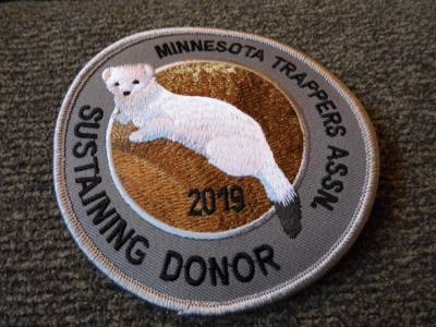2019 Minnesota Sustaining Donor Patch - Weasel