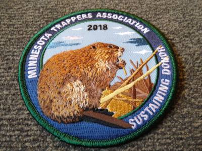 2018 Minnesota Sustaining Donor Patch - Beaver